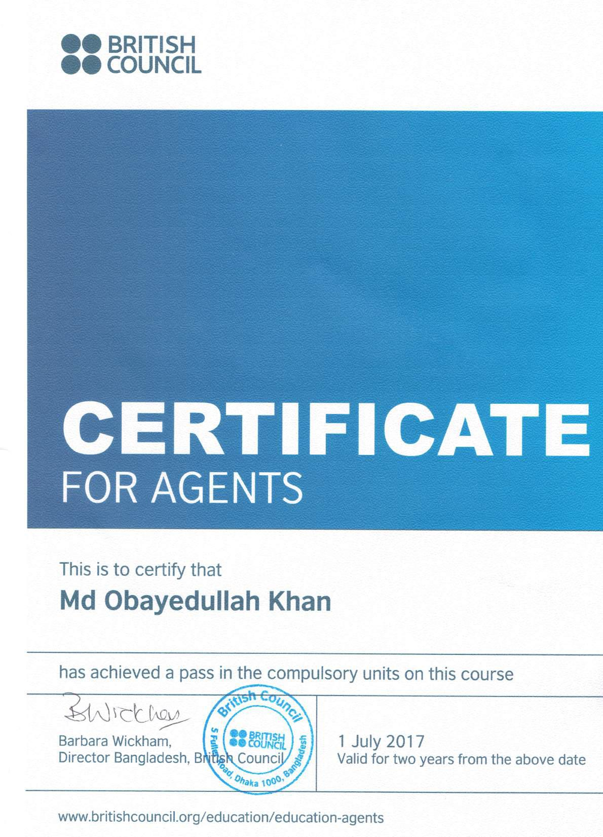 British Council - Global Agent Training Certificate