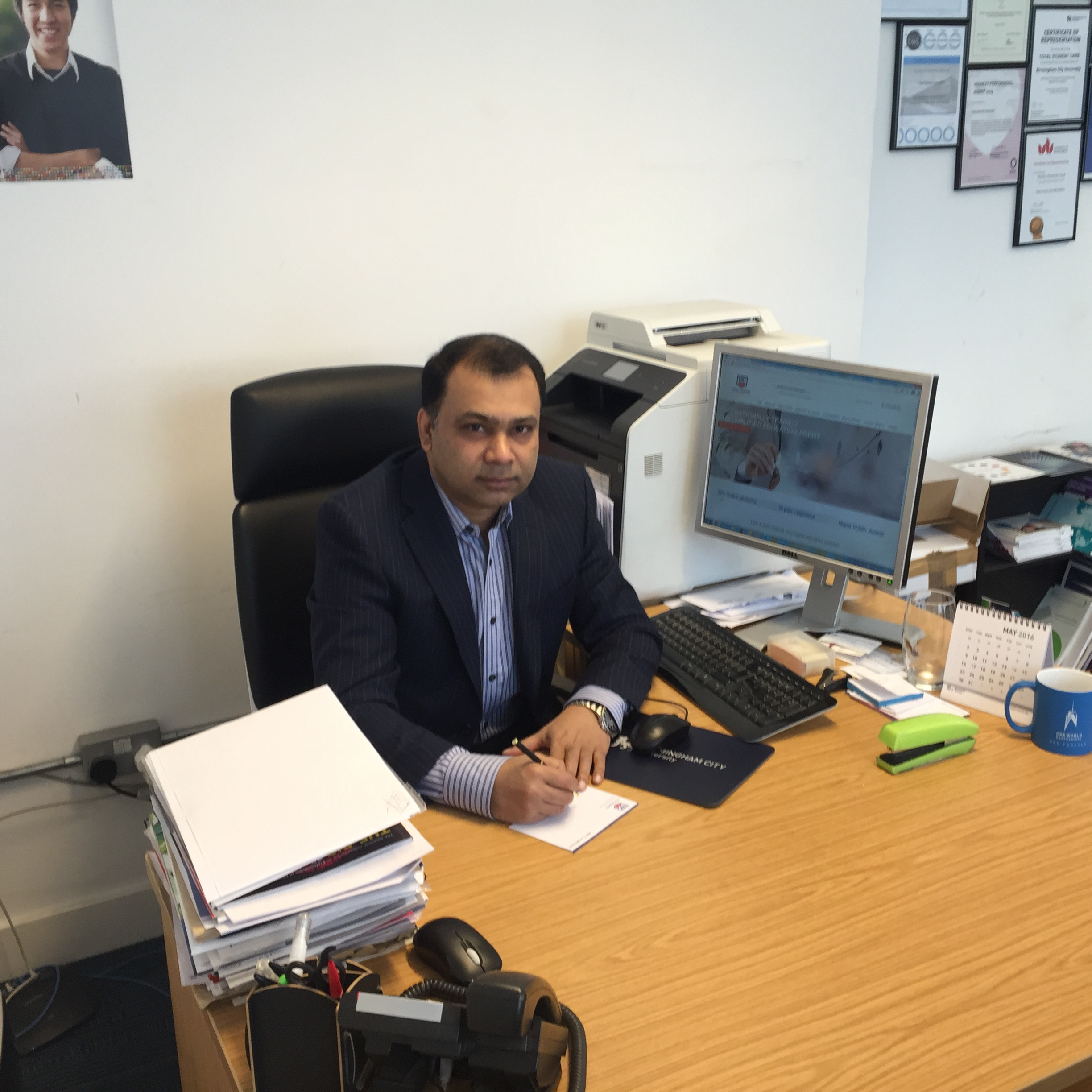At TSC office, London