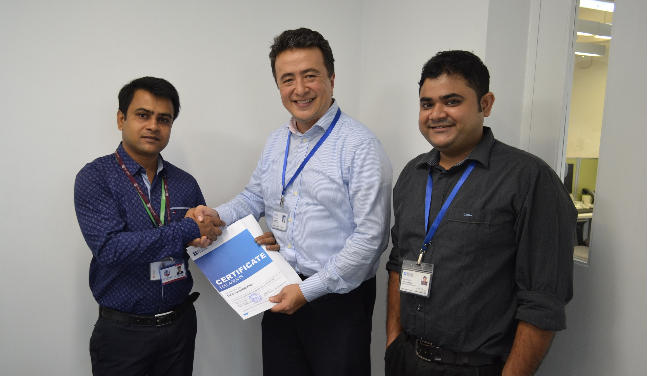 Total Student Care - Bangladesh Office country director, Md Obayedullah Khan has achieved the British Council - Global Agent Training Certificate successfully