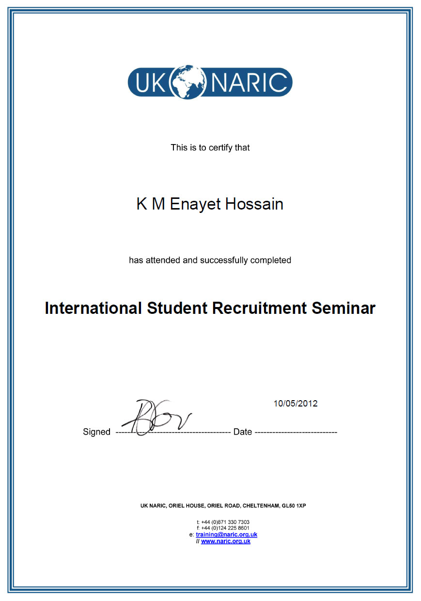 UK Naric International Student Recruitment Seminar